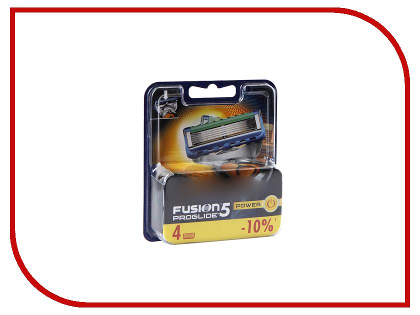 Аксессуар Сменные кассеты Gillette Fusion ProGlide Power 4 шт 81469906