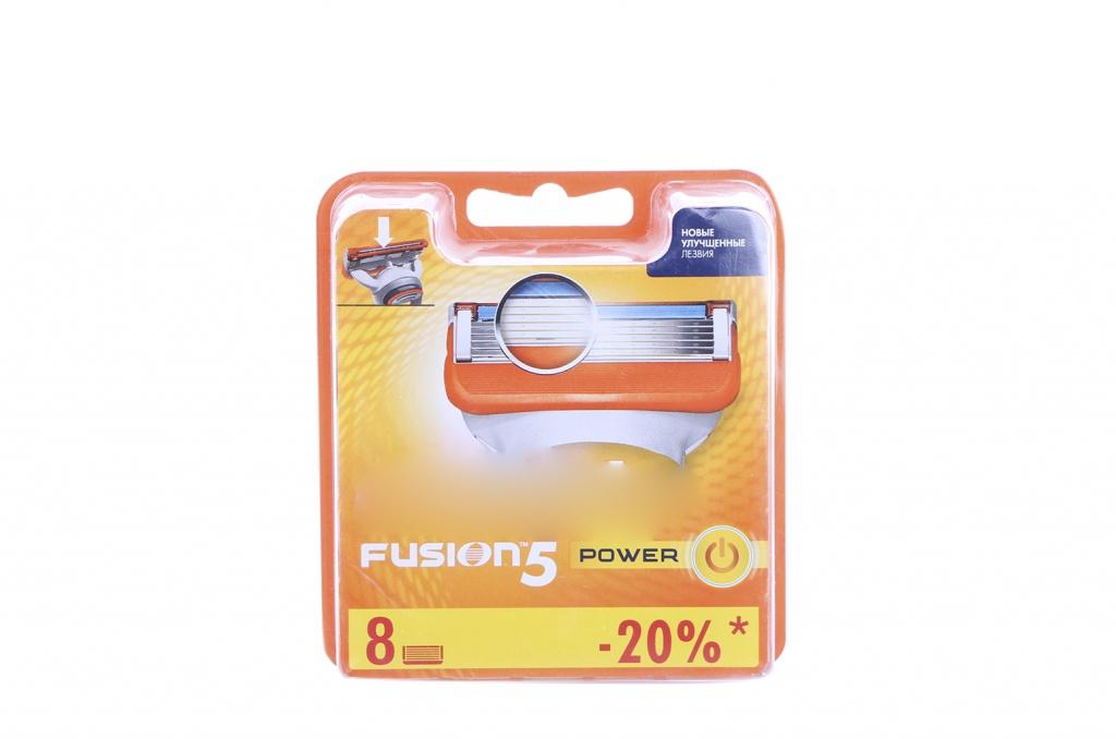Аксессуар Сменные кассеты Gillette Fusion Power 8 шт 81382403