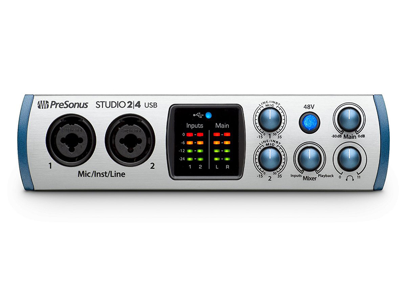 Аудиоинтерфейс PreSonus Studio 24 presonus audiobox 44vsl