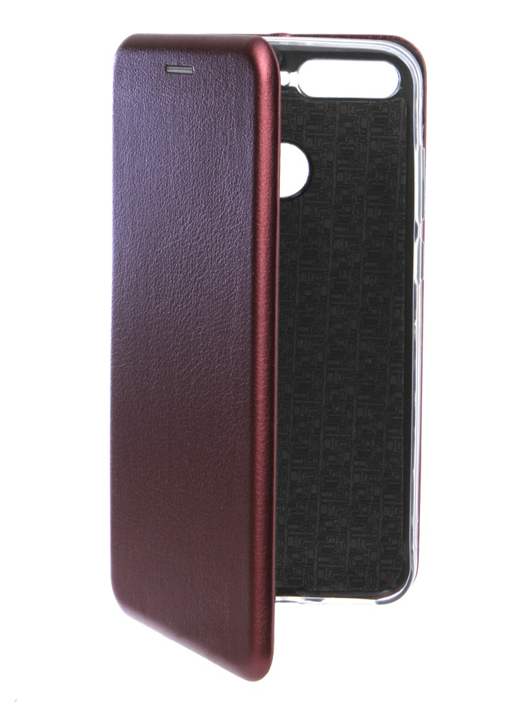 Аксессуар Чехол Innovation для Huawei 7А Pro / Y6 Prime Book Silicone Magnetic Bordo 14714