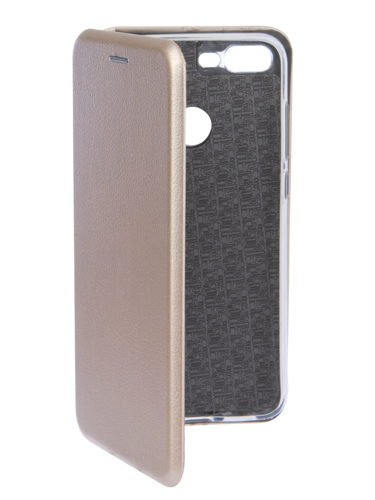 Чехол Innovation для Huawei Honor 9 Lite Book Silicone Magnetic Gold 14675