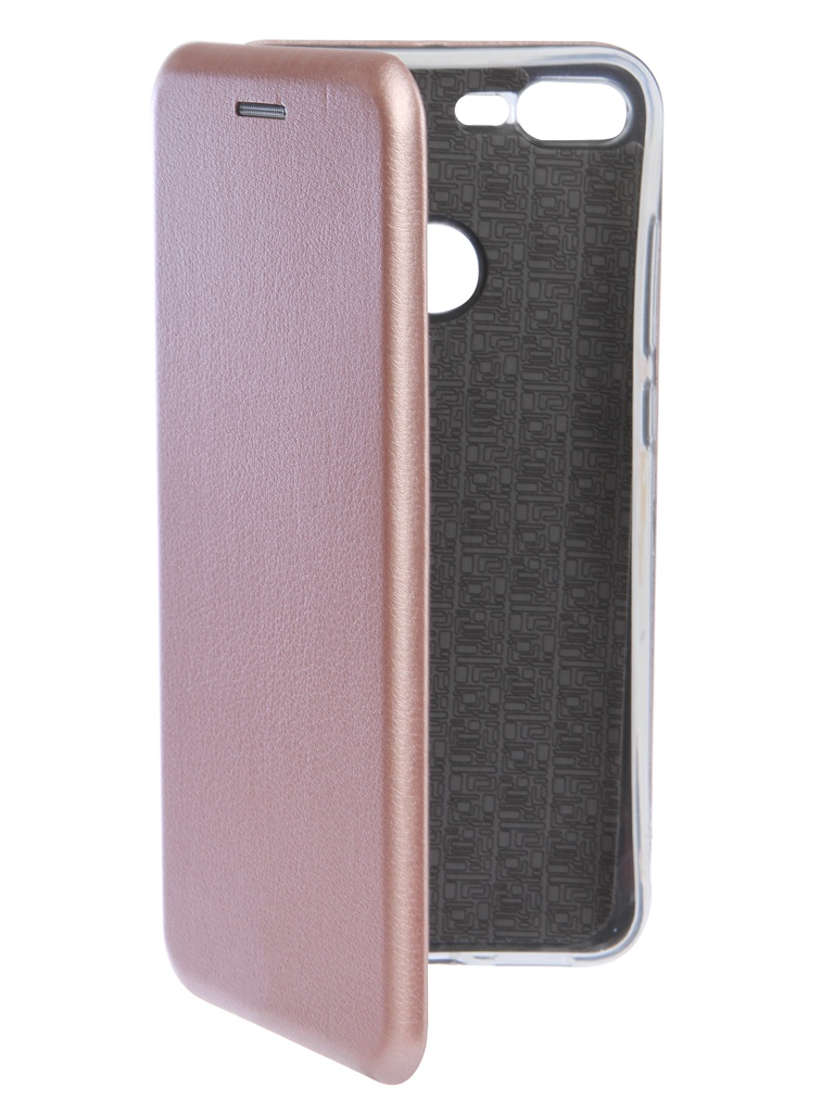 Чехол Innovation для Huawei Honor 9 Lite Book Silicone Magnetic Rose Gold 14676 чехол innovation для huawei honor 8a y6 2019 book silicone magnetic black 14224