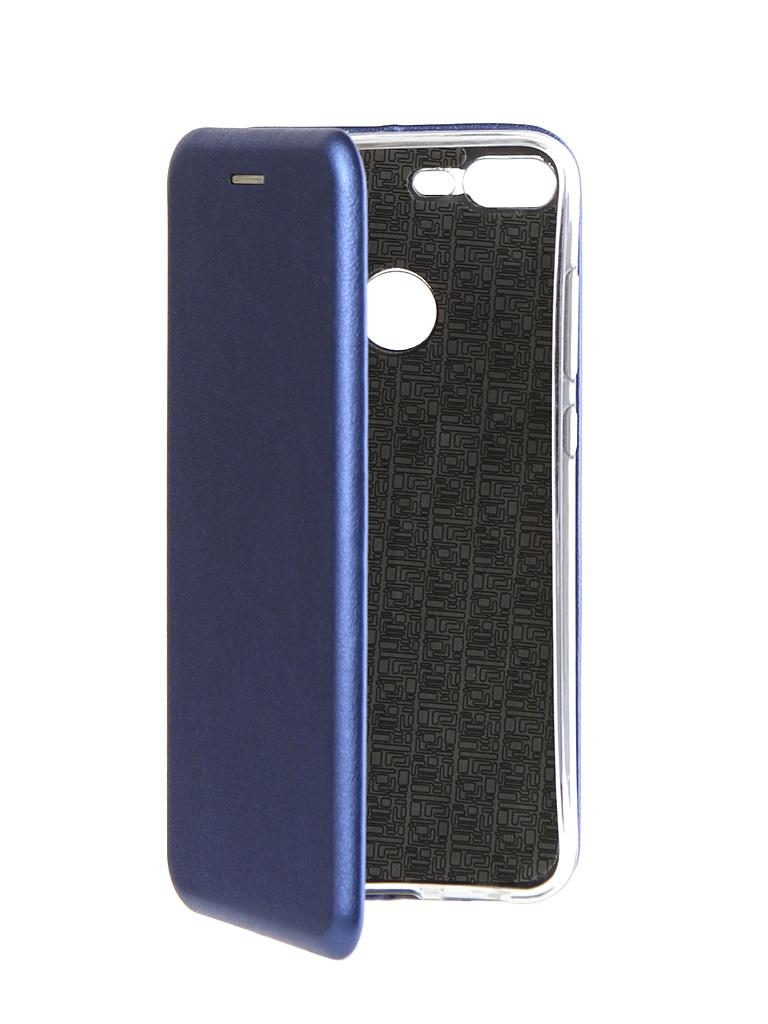 Чехол Innovation для Huawei Honor 9 Lite Book Silicone Magnetic Blue 14678
