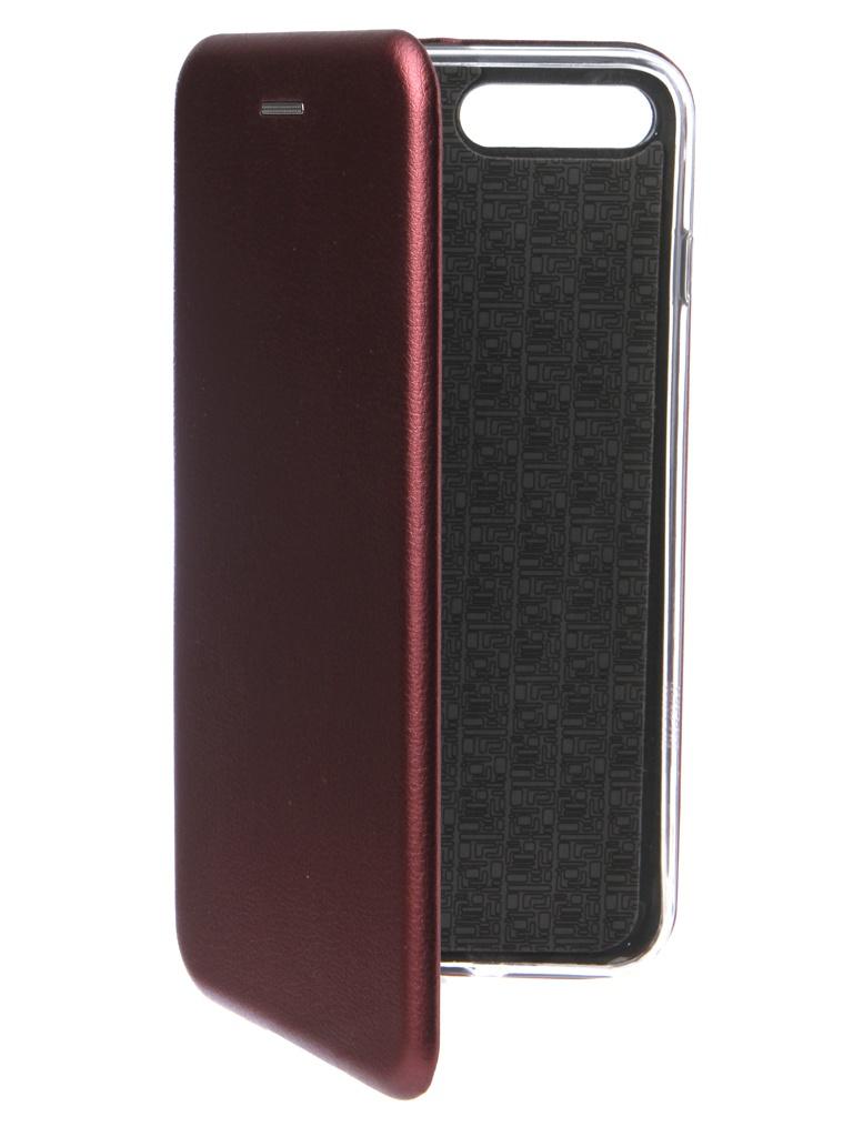 Аксессуар Чехол Innovation для APPLE iPhone 7 Plus Book Silicone Magnetic Bordo 14708 аксессуар