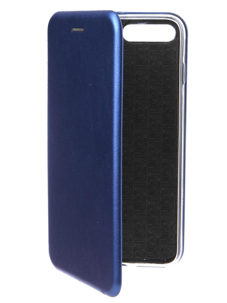 Аксессуар Чехол Innovation для APPLE iPhone 7 Plus Book Silicone Magnetic Blue 14707 аксессуар чехол накладка innovation для apple iphone 7 plus силиконовый black 10029