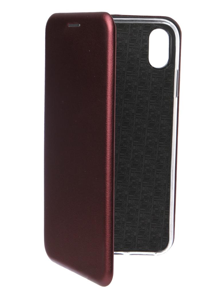 Аксессуар Чехол Innovation для APPLE iPhone XS Max Book Silicone Magnetic Bordo 14704 аксессуар чехол innovation для apple iphone xs max matte black 13319