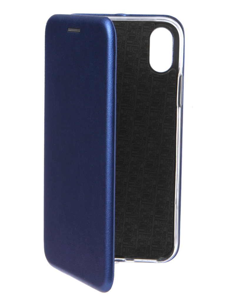 Аксессуар Чехол Innovation для APPLE iPhone X / XS Book Silicone Magnetic Blue 14705