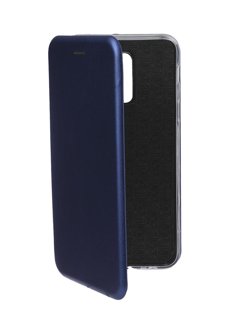 Аксессуар Чехол Innovation для Samsung Galaxy A6 Plus 2018 Book Silicone Magnetic Blue 14701 аксессуар чехол innovation для samsung galaxy a6 plus 2018 silicone blue 12630