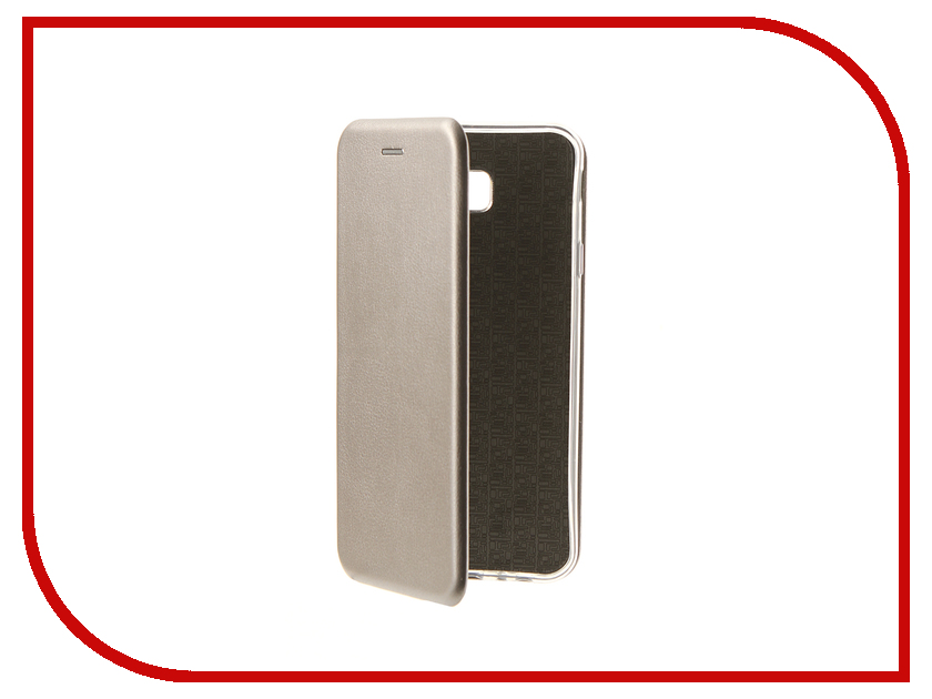 Купить Аксессуар Чехол для Samsung Galaxy J4 Core Innovation Book Silicone Magnetic Silver 14688