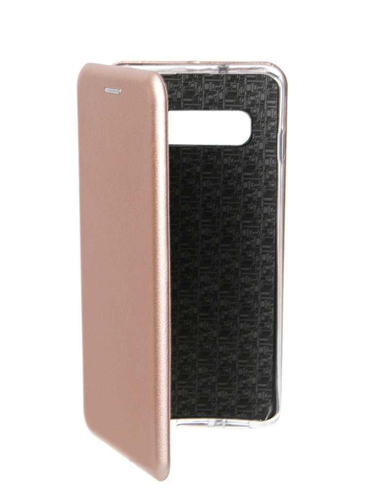 Фото - Аксессуар Чехол Innovation для Samsung Galaxy S10 Book Silicone Magnetic Rose Gold 14663 аксессуар