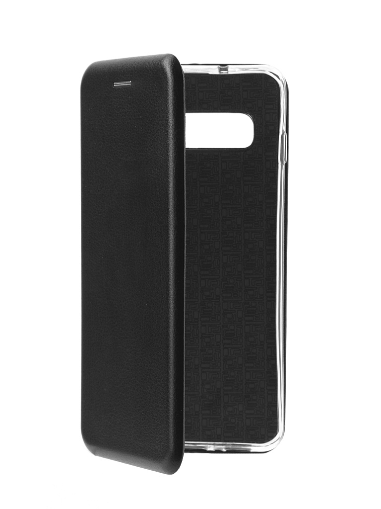 Аксессуар Чехол Innovation Book для Samsung Galaxy S10 Silicone Magnetic Black 14662 аксессуар чехол snoogy для samsung i9600 galaxy s5 creative silicone 0 3mm black