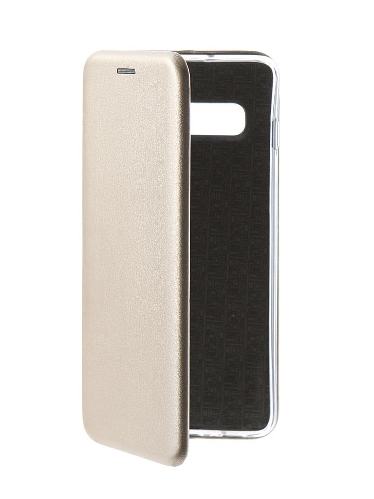 Аксессуар Чехол Innovation Silicone Magnetic для Samsung Galaxy S10 Plus Gold 14656 аксессуар противоударное стекло для samsung galaxy a8 plus innovation 2d full glue cover gold 12818