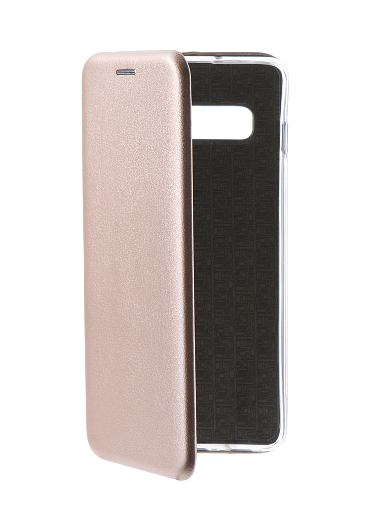 Аксессуар Чехол Innovation Book для Samsung Galaxy S10 Plus Silicone Magnetic Rose Gold 14655