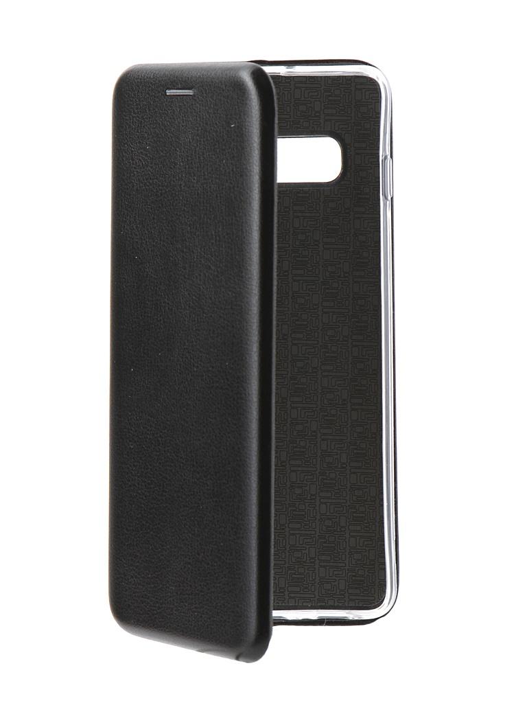 Аксессуар Чехол Innovation Book для Samsung Galaxy S10 Plus Silicone Magnetic Black 14654 аксессуар чехол книга для samsung galaxy s7 innovation book black 10531