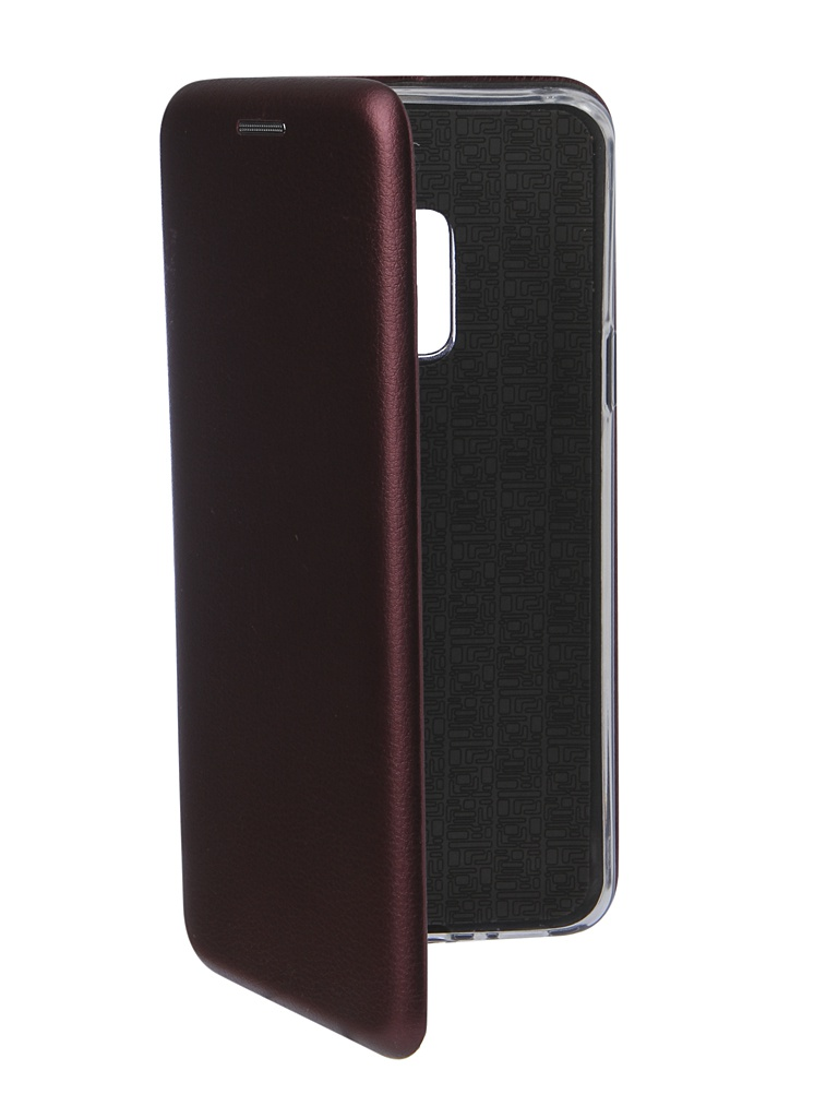 Аксессуар Чехол Innovation для Samsung Galaxy S9 Book Silicone Magnetic Bordo 14653