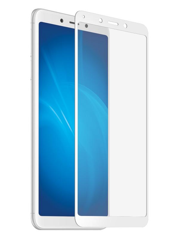 Аксессуар Закаленное стекло DF для Xiaomi Redmi 6A / Redmi 6 Full Screen xiColor-39 White