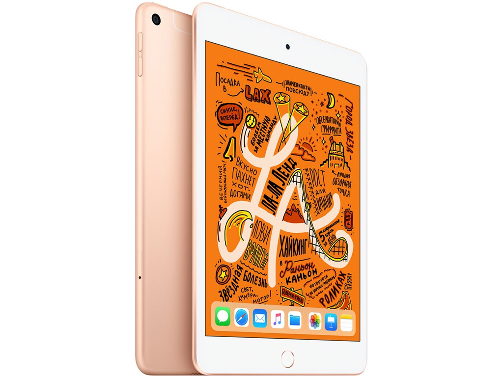 Планшет APPLE iPad mini (2019) 64Gb Wi-Fi + Cellular Gold MUX72RU/A apple ipad mini 4 16gb wi fi gold mk6l2ru a
