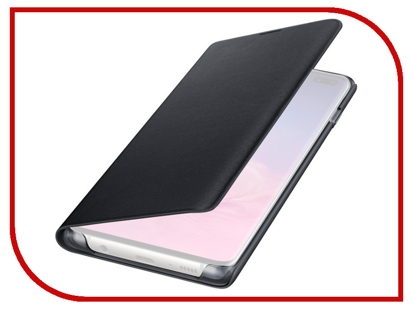 Аксессуар Чехол для Samsung Galaxy S10 Plus LED View Cover Black EF-NG975PBEGRU аксессуар чехол накладка samsung galaxy j2 2018 jelly cover pink ef aj250tpegru