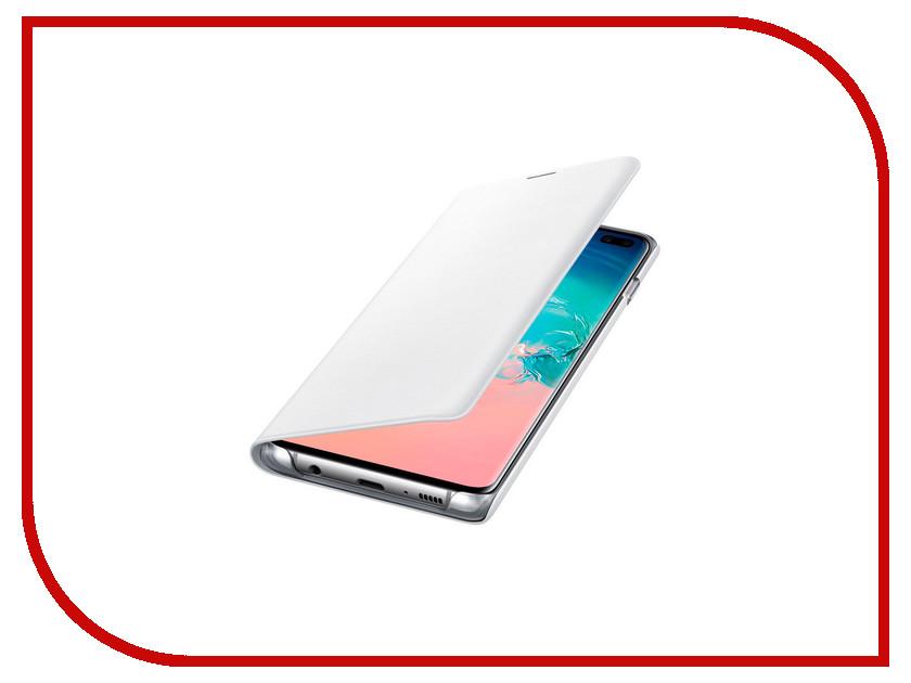 Аксессуар Чехол для Samsung Galaxy S10 Plus LED View Cover White EF-NG975PWEGRU аксессуар чехол samsung galaxy note 4 n9100 s view white ef en910ftegru