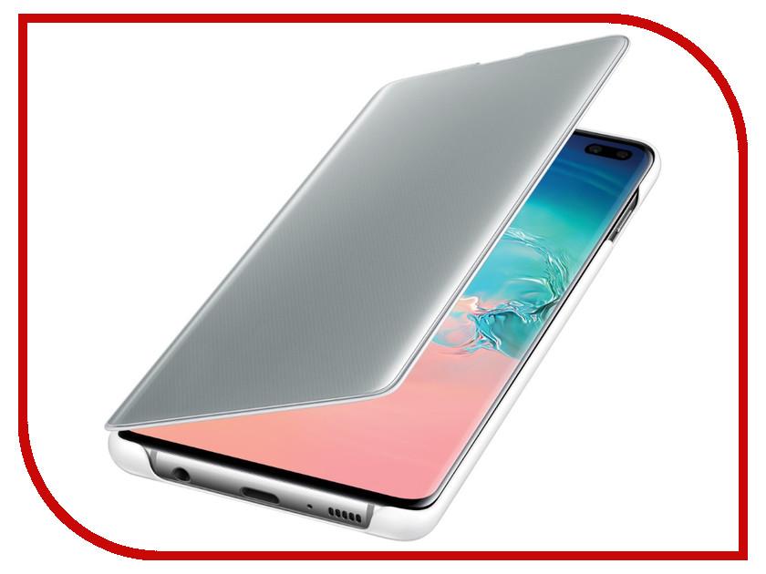 Купить Аксессуар Чехол для Samsung Galaxy S10 Plus Clear View Cover White EF-ZG975CWEGRU