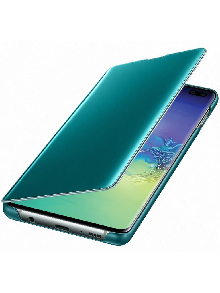 Аксессуар Чехол для Samsung Galaxy S10 Plus Clear View Cover Green EF-ZG975CGEGRU цена