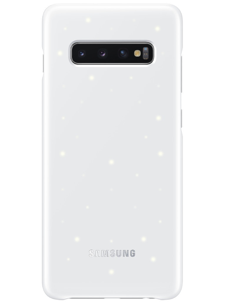 Аксессуар Чехол для Samsung Galaxy S10 Plus LED Cover White EF-KG975CWEGRU аксессуар чехол для samsung galaxy s10 plus led view cover white ef ng975pwegru