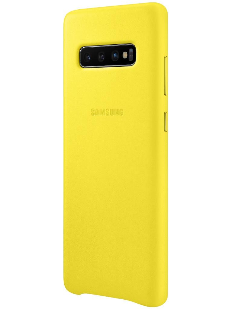 Аксессуар Чехол для Samsung Galaxy S10 Plus Leather Cover Yellow EF-VG975LYEGRU аксессуар чехол накладка samsung galaxy j2 2018 jelly cover pink ef aj250tpegru