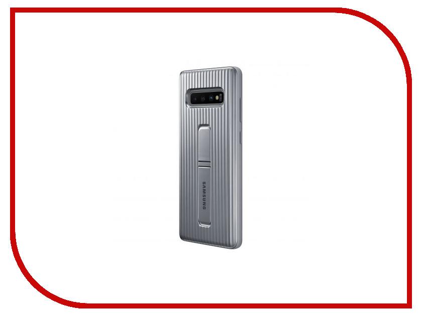 Аксессуар Чехол для Samsung Galaxy S10 Plus Protective Standing Cover Silver EF-RG975CSEGRU