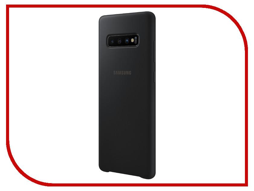 Аксессуар Чехол для Samsung Galaxy S10 Plus Silicone Cover Black EF-PG975TBEGRU