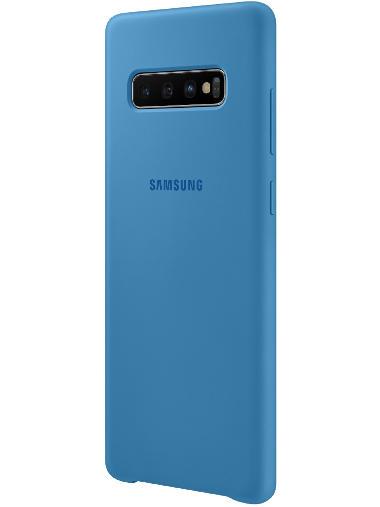 Аксессуар Чехол для Samsung Galaxy S10 Plus Silicone Cover Blue EF-PG975TLEGRU цена и фото