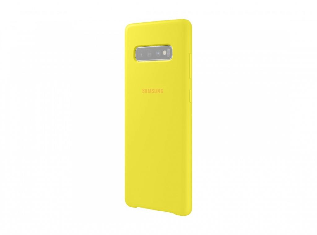 Аксессуар Чехол для Samsung Galaxy S10 Plus Silicone Cover Yellow EF-PG975TYEGRU