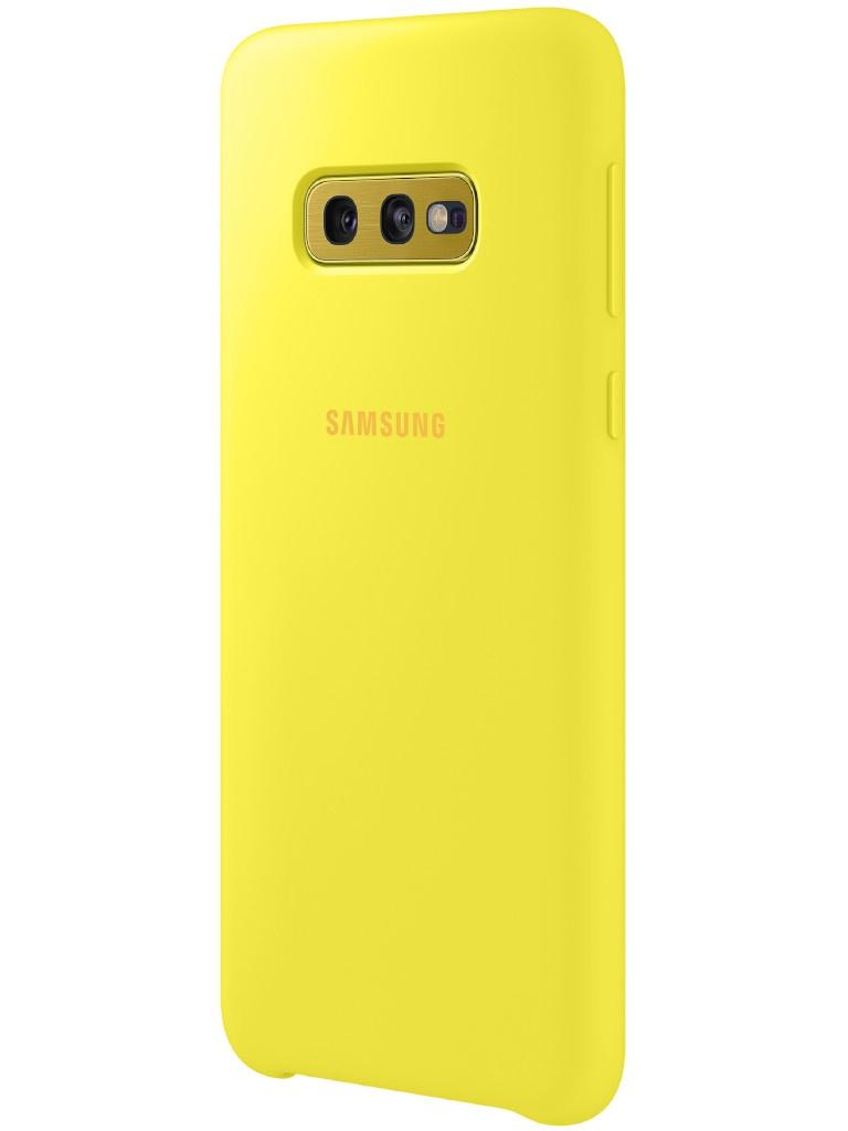 Аксессуар Чехол для Samsung Galaxy S10E Silicone Cover Yellow EF-PG970TYEGRU
