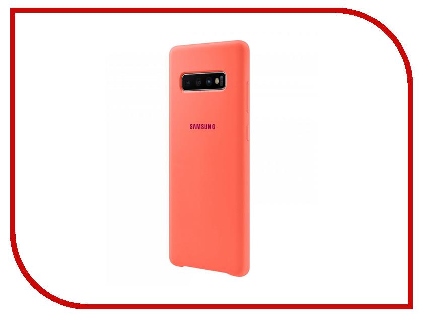 Аксессуар Чехол для Samsung Galaxy S10 Plus Silicone Cover Pink EF-PG975THEGRU аксессуар чехол накладка samsung galaxy s9 silicone cover pink ef pg960tpegru