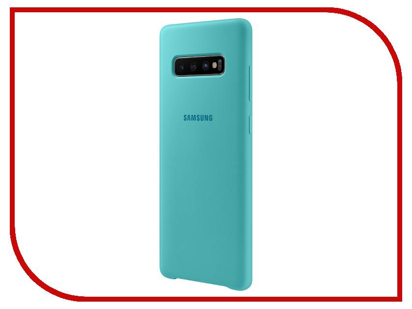 Аксессуар Чехол для Samsung Galaxy S10 Plus Silicone Cover Green EF-PG975TGEGRU