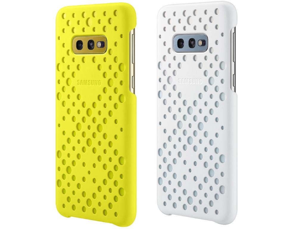 Аксессуар Чехол для Samsung Galaxy S10E Pattern Cover White-Yellow EF-XG970CWEGRU