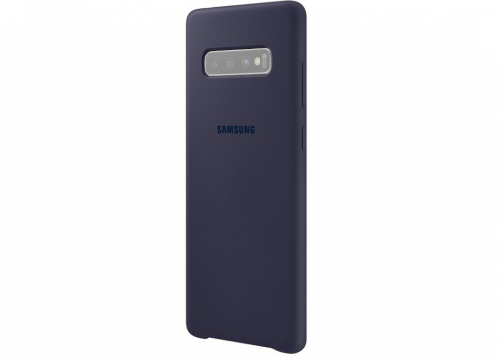 Чехол для Samsung Galaxy S10 Plus Silicone Cover Dark Blue EF-PG975TNEGRU