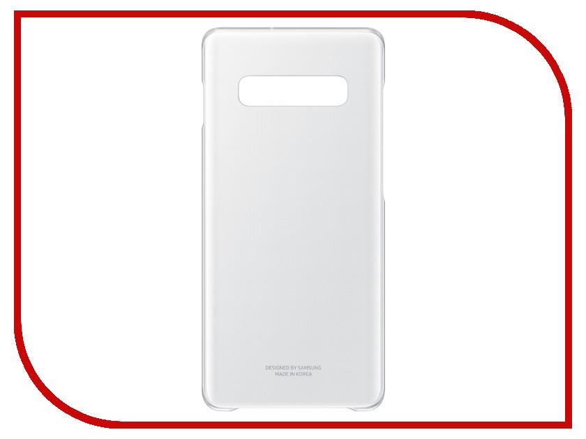 Аксессуар Чехол Samsung EF-QG975 для Samsung Galaxy S10+ Transparent EF-QG975CTEGRU аксессуар защитное стекло для samsung galaxy s10 lite svekla zs svsgs10l