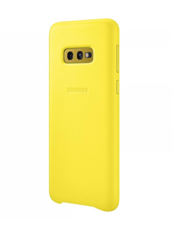 Аксессуар Чехол для Samsung Galaxy S10E Leather Cover Yellow EF-VG970LYEGRU