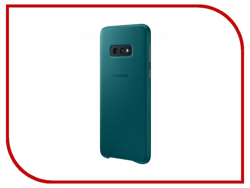 цена на Аксессуар Чехол для Samsung Galaxy S10E Leather Cover Green EF-VG970LGEGRU