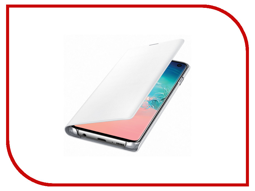 Аксессуар Чехол для Samsung Galaxy S10 LED View Cover White EF-NG973PWEGRU аксессуар чехол накладка samsung galaxy j2 2018 jelly cover pink ef aj250tpegru