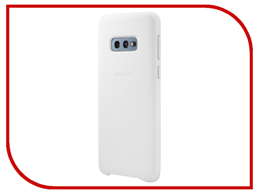 Аксессуар Чехол для Samsung Galaxy S10E Leather Cover White EF-VG970LWEGRU аксессуар чехол накладка samsung galaxy j2 2018 jelly cover pink ef aj250tpegru