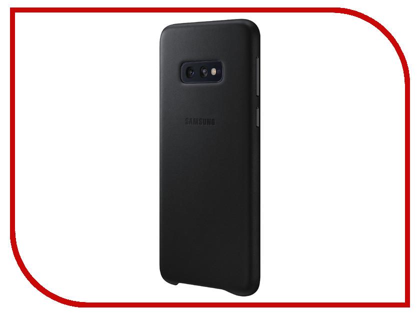 Аксессуар Чехол для Samsung Galaxy S10E Leather Cover Black EF-VG970LBEGRU