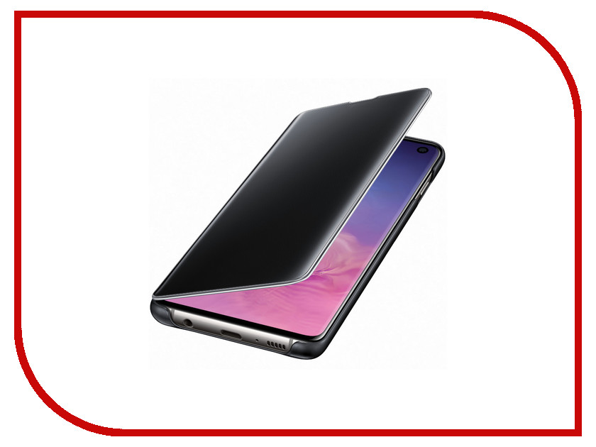 Аксессуар Чехол для Samsung Galaxy S10 Clear View Cover Black EF-ZG973CBEGRU аксессуар чехол накладка samsung galaxy j2 2018 jelly cover pink ef aj250tpegru