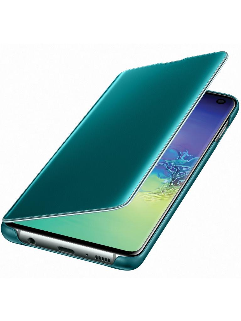 Аксессуар Чехол для Samsung Galaxy S10 Clear View Cover Green EF-ZG973CGEGRU аксессуар чехол для samsung galaxy s10 led view cover green ef ng973pgegru
