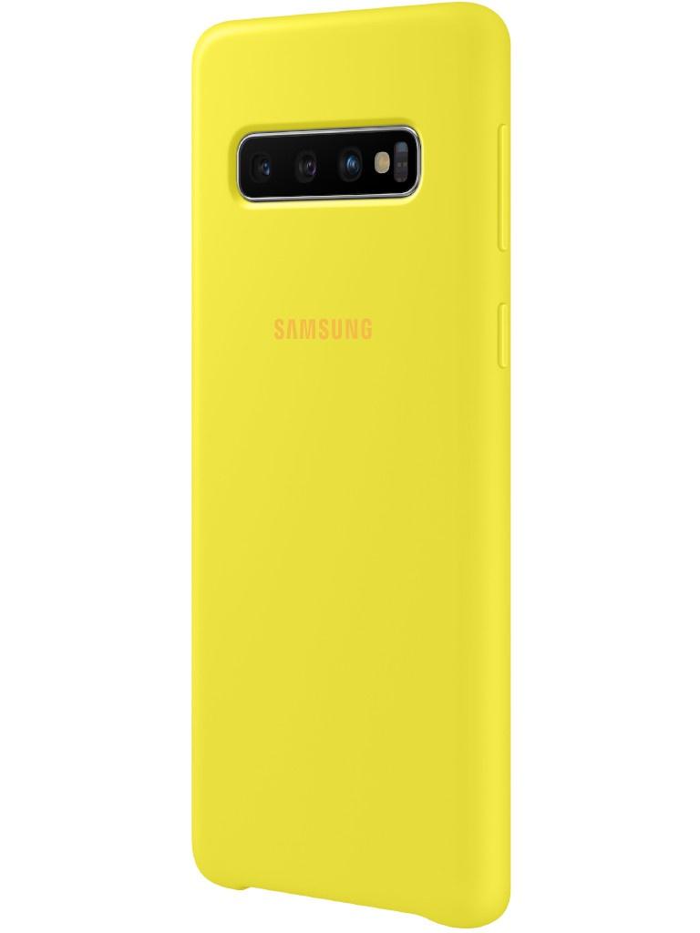 Аксессуар Чехол для Samsung Galaxy S10 Silicone Cover Yellow EF-PG973TYEGRU