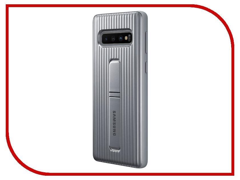 цена на Аксессуар Чехол для Samsung Galaxy S10 Protective Standing Cover Silver EF-RG973CSEGRU