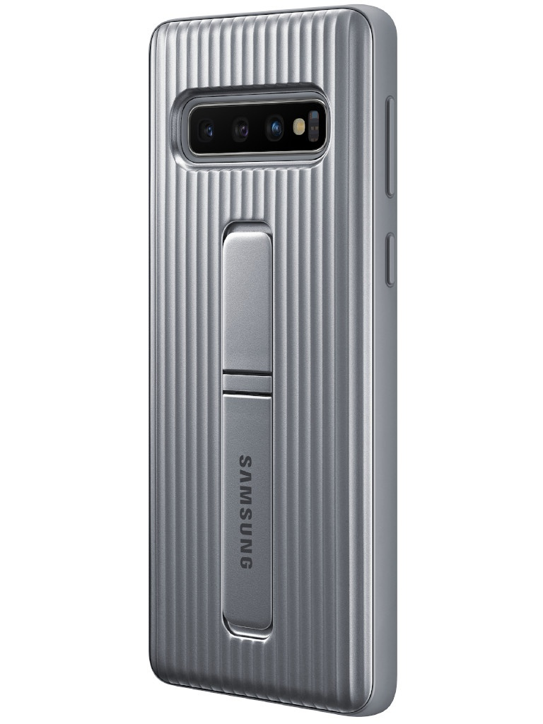 Аксессуар Чехол для Samsung Galaxy S10 Protective Standing Cover Silver EF-RG973CSEGRU
