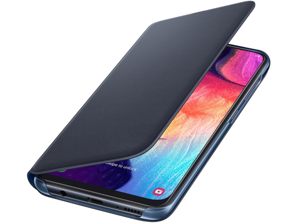 Аксессуар Чехол для Samsung Galaxy A505 Wallet Cover Black EF-WA505PBEGRU