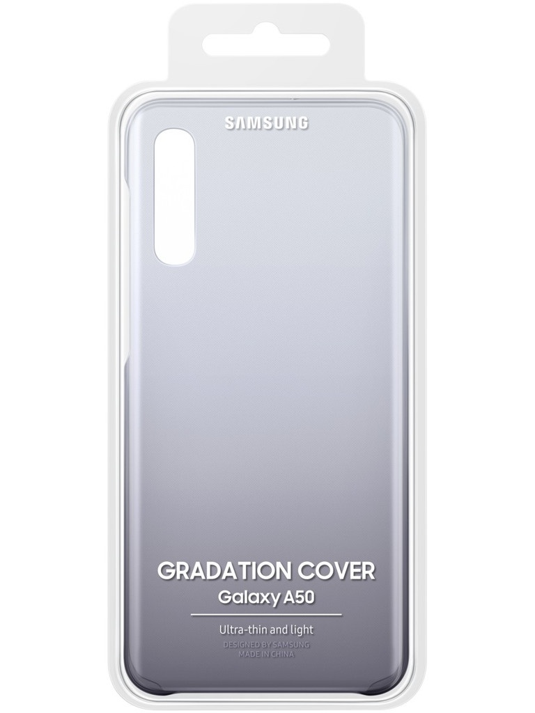 Аксессуар Чехол для Samsung Galaxy A505 Gradation Cover Black EF-AA505CBEGRU
