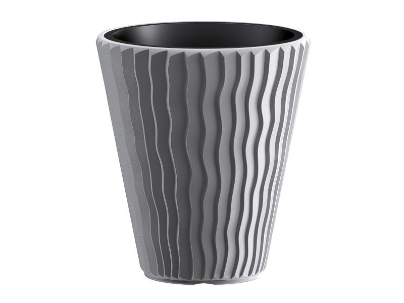 Кашпо Prosperplast Sandy DBSP400-405U Grey